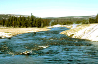 HRS 97 USA Yellowstone Firehole river hot springs