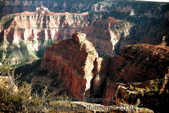 HRS 2610 Grand Canyon from North rim meander
