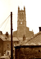 HRS 2784 Radcliffe, St Thomas church from library roof  1970s