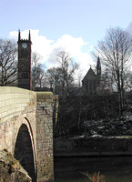 HRS 3989 Ringley Bridge and old church tower 2005