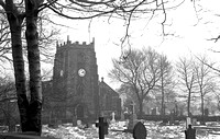 HRS 153 Radcliffe Parish Church in the snow c1967