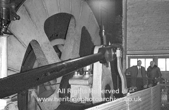 HRS 3721 Winding engine Bickershaw Pit 1970s winding drum and stroke arm