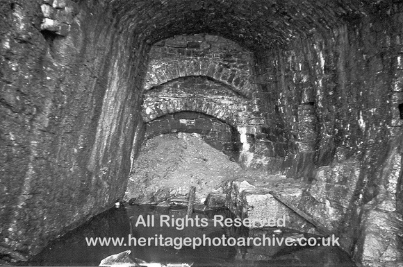 HRS 4039 Whitewell, Radholme, interior of lime kiln on reef knoll 1960s