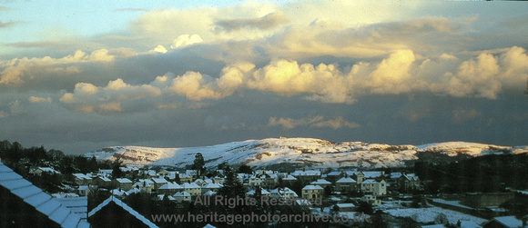 HRS 4583 Snow on Great Orme from Conwy stratocumulus 1990s