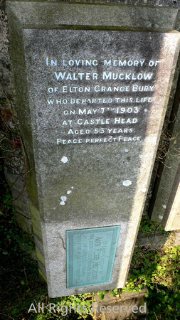 HRS 4714 Lindale, Walter Mucklow tombstone 2010