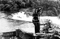 HRS 4978 Backbarrow river sluice for ironworks 1970s