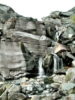 HRS 5319 Cwmorthin, waterfall over rhyolite exposure 2004