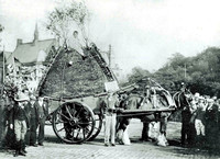 HRS 7793  Rochdale, Rushcart with boy on the top