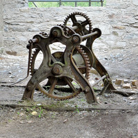HRS 8441 Backbarrow, ironworks windlass