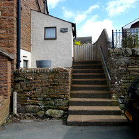 HRS 8968 Langwathby, dry stone walling at house L1150267