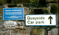 Berwick on Tweed, signage