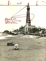 Blackpool Tower red-lined 26th May 1942