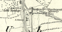 Maulds Maeburn 1858 9 OS map of mill site