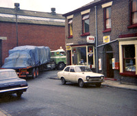 Radcliffe Paper Mill, Rupert St - Johnson Street Paddy Bailey's shop 1970s