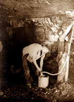 HRS 1518 Coalmining, Gibfield men working in tunnel