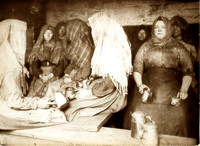 HRS 1515 Coalmining, pitbrow women in cabin Gibfield