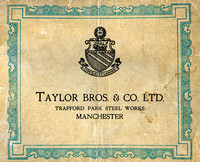 Paul Wardle Collection, Taylor Brothers engineers, Brochure 1920s