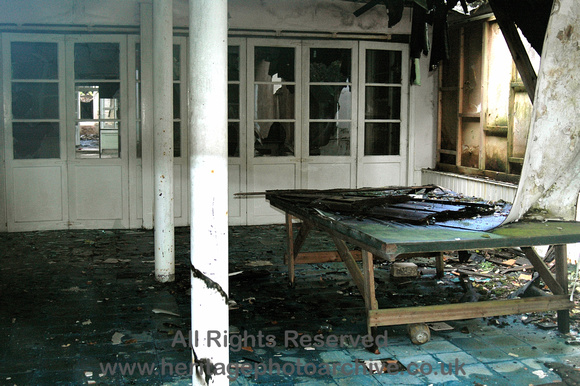 HRS 6904 Hafodunos Hall, conservatory area after 2004 fire