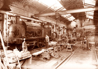 HRS 1511 Coalmining, Gibfield locomotive repair shop