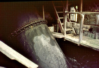 HRS 1320 Backbarrow Ironworks, water turbine house 1970s