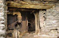 HRS 1313 Backbarrow ironworks, furnace lintel 1970s